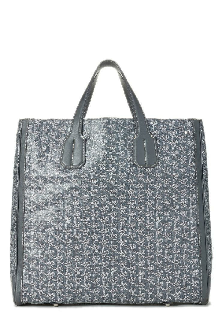 Goyard Voltaire Tote Monogram Chevron Multicolor Grey