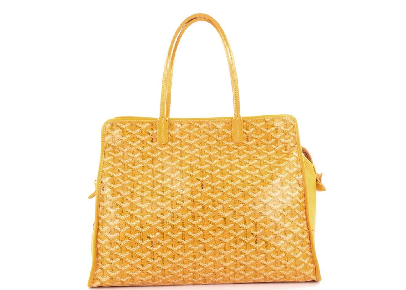 d6b3187b View All Bids. Goyard Hardy Pet Carrier Travel Bag Monogram Chevron PM  Yellow. Monogram Chevron PM Yellow