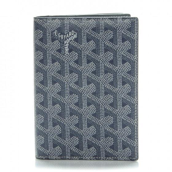 Goyard Goyardine Wallet Monogram Chevron Grey