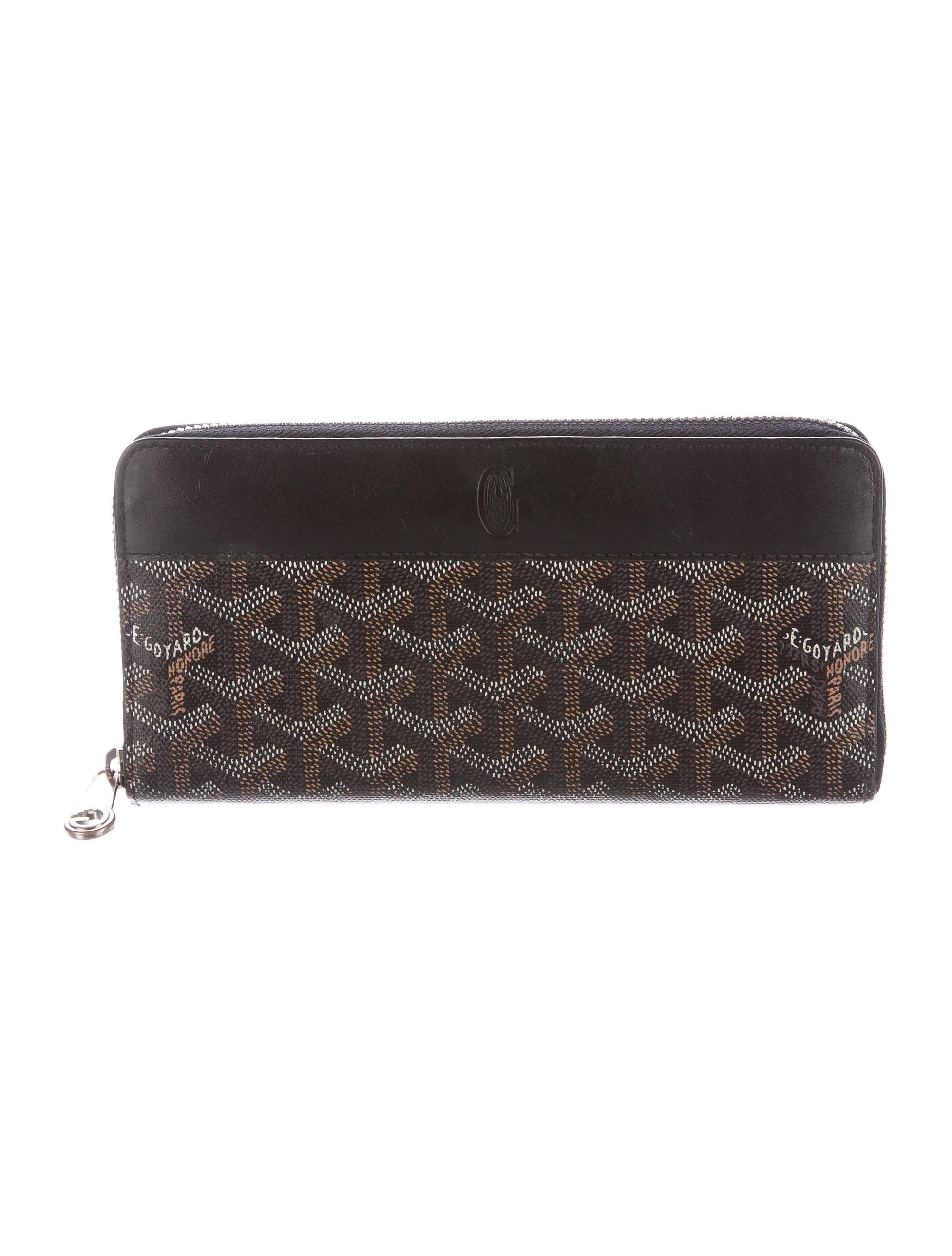 Goyard Matignon Wallet Monogram Chevron Zip-around Black