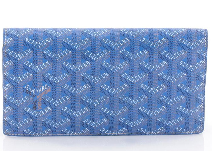Goyard Richelieu Wallet Monogram Chevron Long Blue