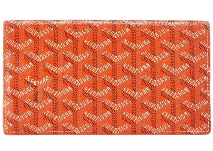 Goyard Richelieu Wallet Monogram Chevron Multicolor Long Orange