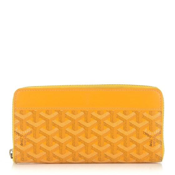Goyard Zip Around Wallet Chevron GM Yellow