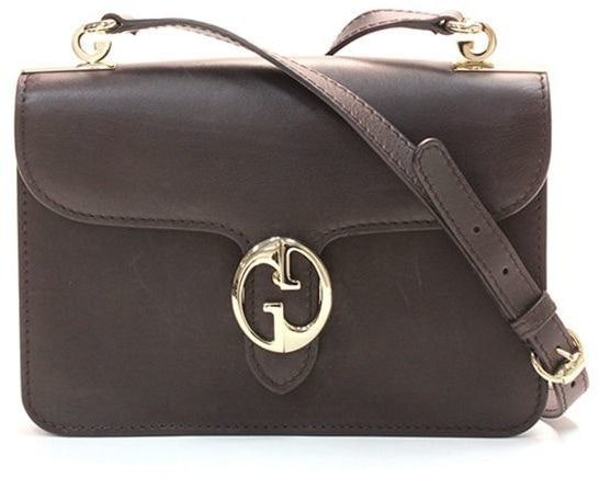 Gucci 1973 Shoulder Flap Medium Dark Brown