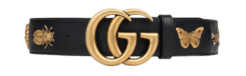 Gucci Animal Studded Belt 70-28 Black