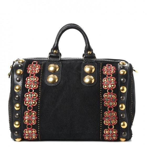 Gucci Babouska Boston Studded Large Black