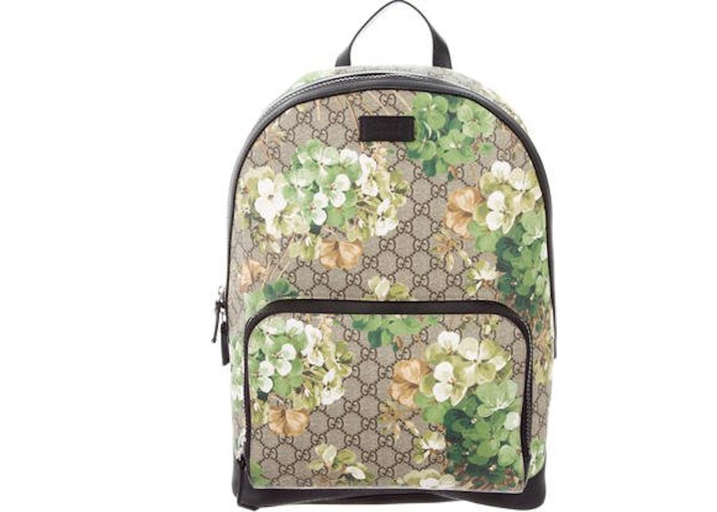 ced0a7f0261385 Gucci GG Supreme Backpack GG Supreme Floral Print Beige/Ebony ...