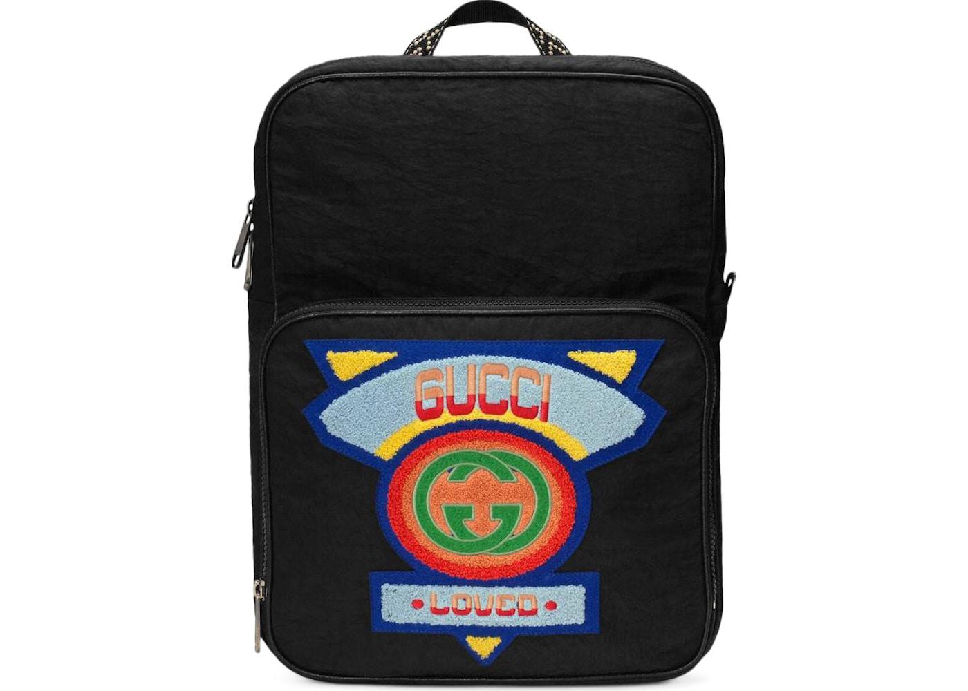 1abec91e15a4 Gucci Backpack 80s Patch Medium Black