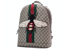 e2c30a9efcc0 Gucci Animalier Web Backpack Monogram GG Supreme Stitched