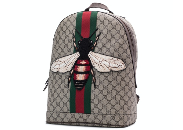0bc056f962f1 Gucci Animalier Web Backpack Monogram GG Supreme Stitched