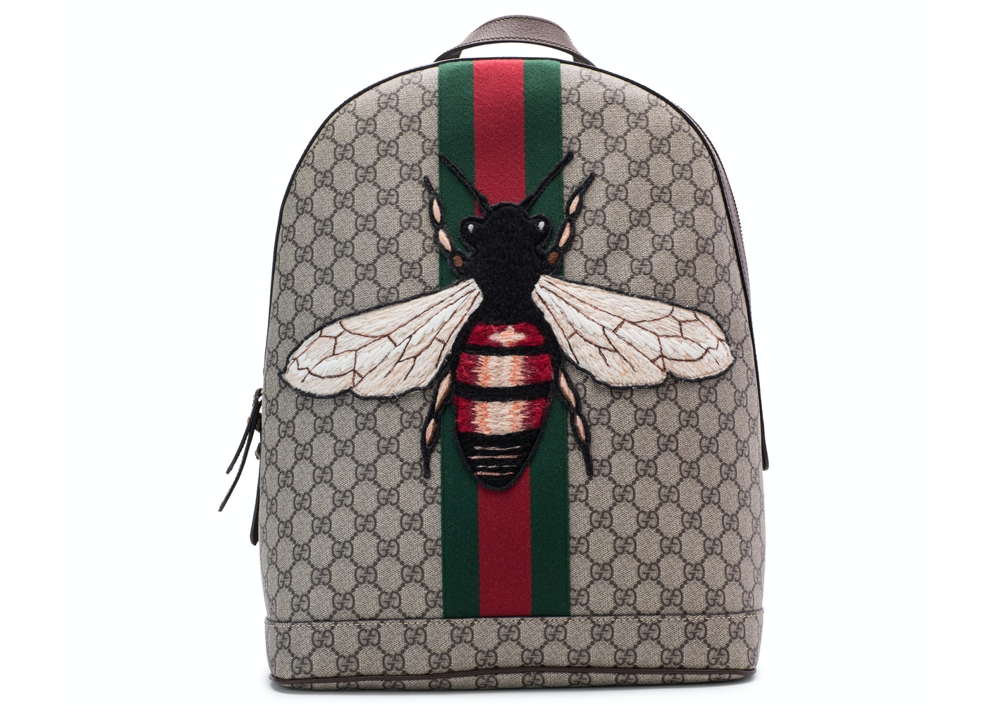 3d20b11a325 Gucci Animalier Web Backpack Monogram GG Supreme Stitched