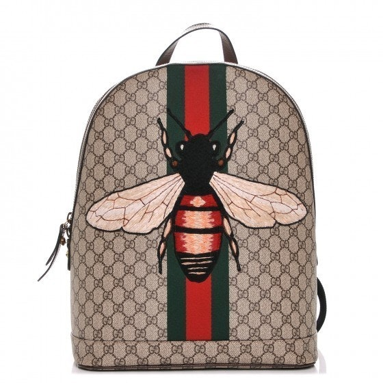 Gucci Animalier Web Backpack Monogram GG Supreme Stitched