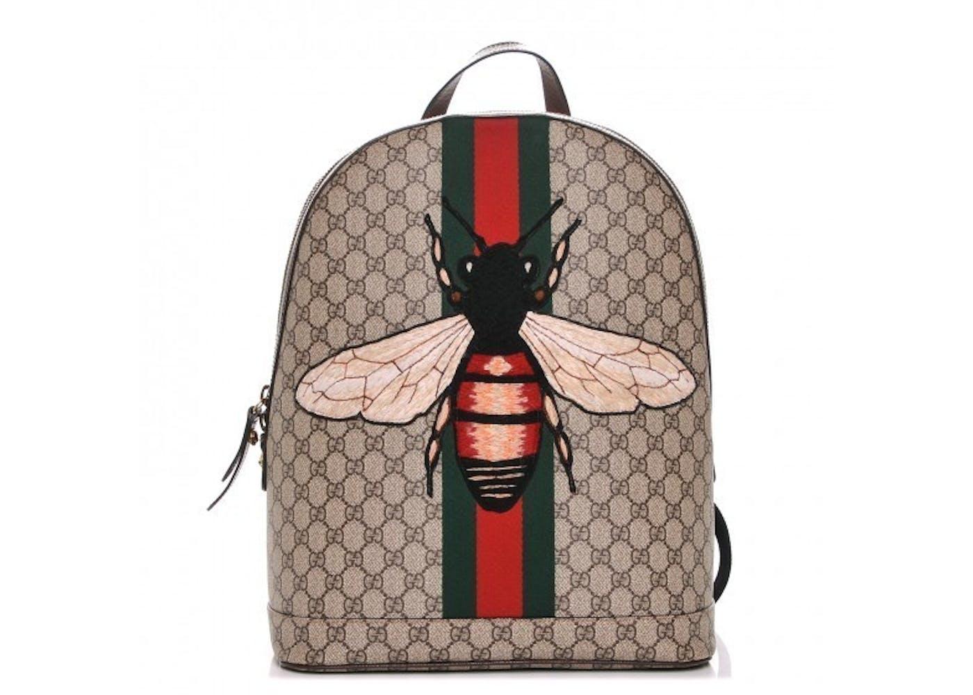 Gucci Animalier Web Backpack Monogram GG Supreme Stitched