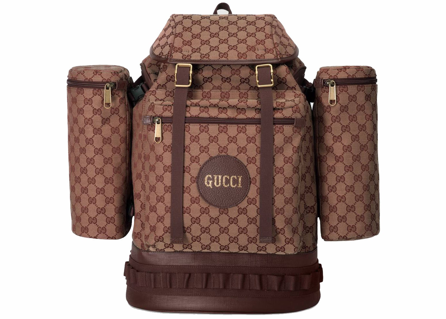 Gucci Backpack Canvas Large Beige/Bordeaux
