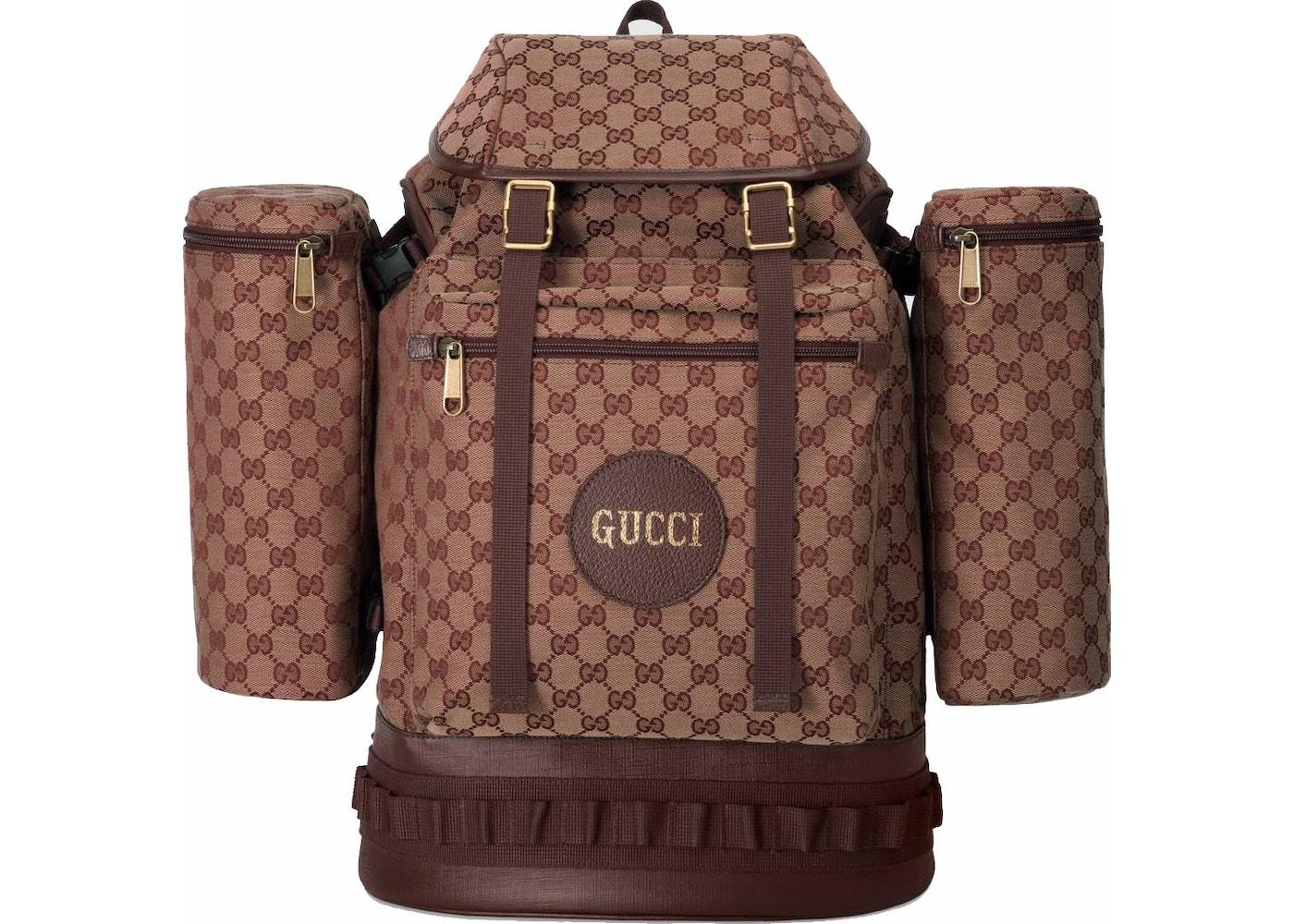 a0a811866ad43e Gucci Backpack Canvas Large Beige/Bordeaux