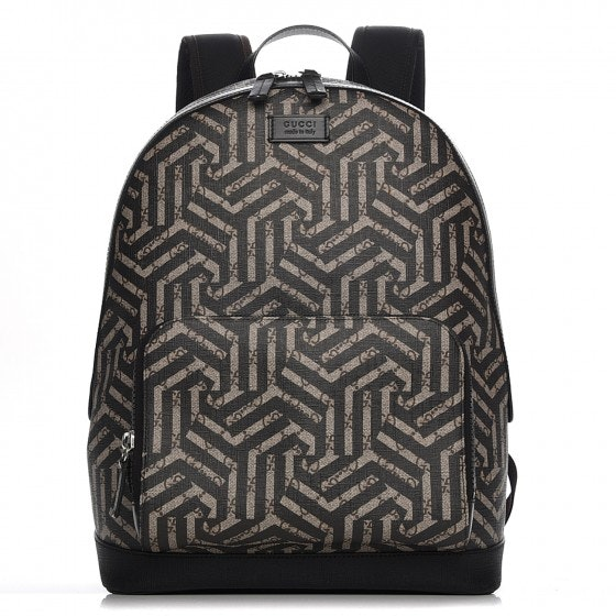 Gucci Front Pocket Backpack Caleido Print GG Supreme Medium Nero Black