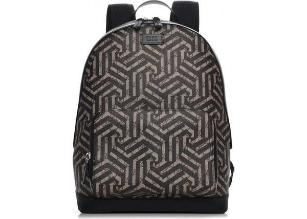 2a052a6f Gucci Front Pocket Backpack Caleido Print GG Supreme Medium Nero Black