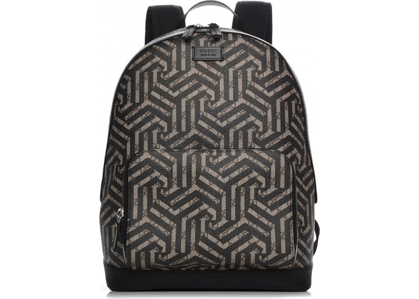 048380ea Gucci Front Pocket Backpack Caleido Print GG Supreme Medium Nero Black. Caleido  Print GG Supreme Medium Nero Black