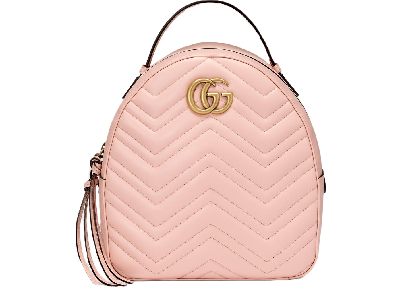 b0b4eebf09 Gucci GG Marmont Backpack Quilted Double G Logo Light Pink. Quilted Double  G Logo Light Pink