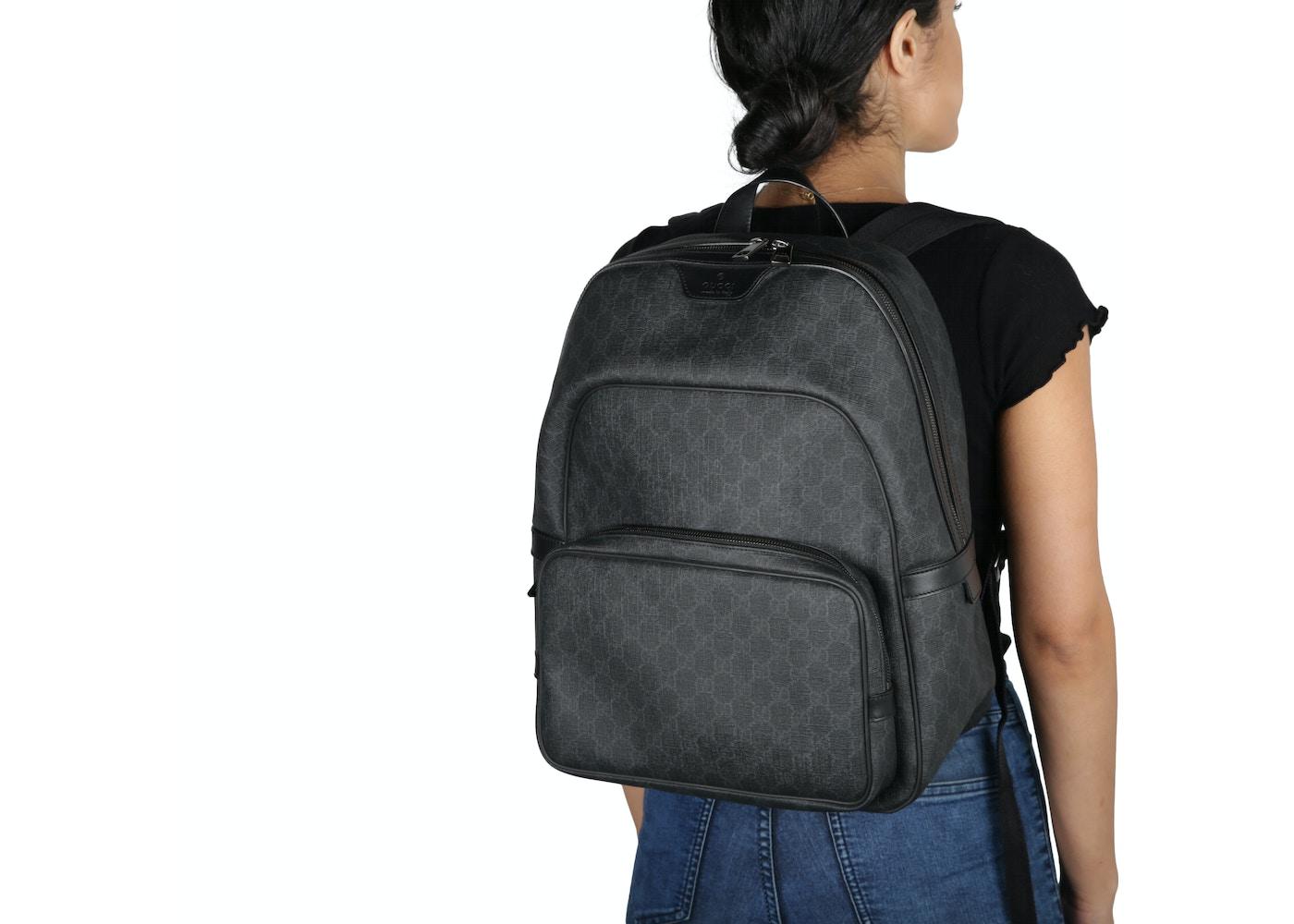 d0587f8ceca4 Gucci GG Supreme Backpack Monogram GG Medium Black