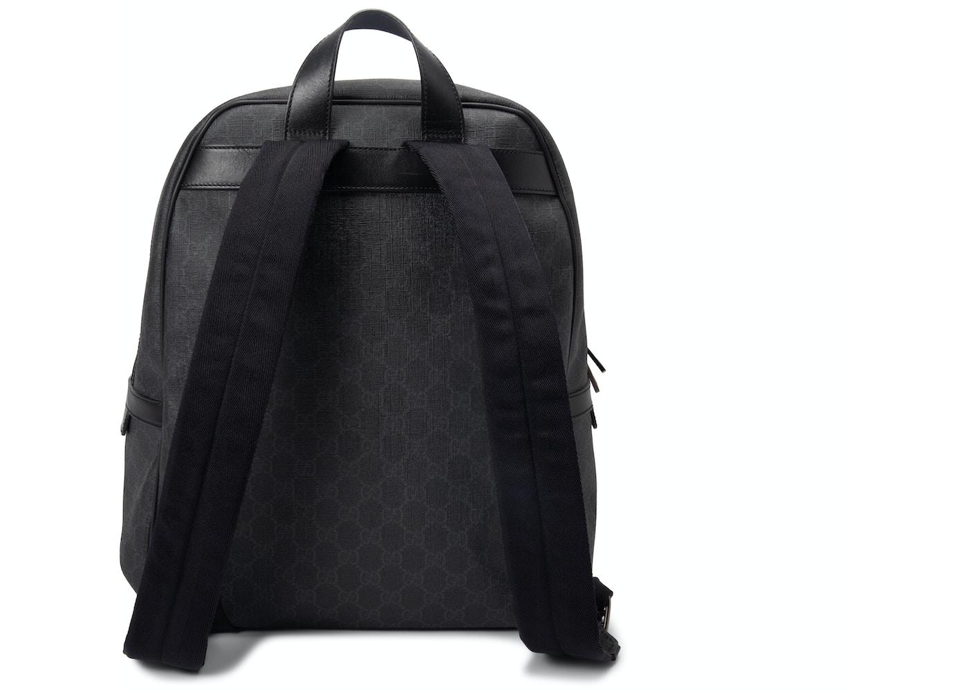 cf54ce4d08e Gucci GG Supreme Backpack Monogram GG Medium Black