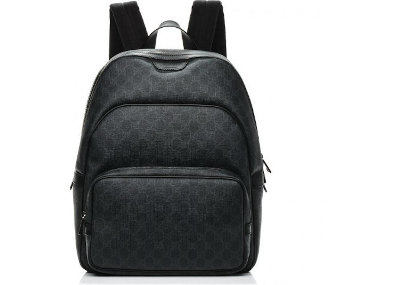 ... designer fashion 9741d 8c849 Gucci GG Supreme Backpack Monogram GG  Medium Black ... 9ce772aea1
