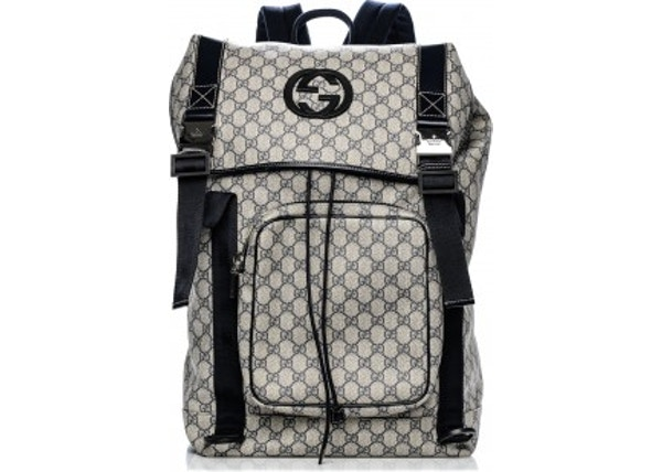 Gucci GG Supreme Backpack Monogram Interlocking G Navy 446073d742a21