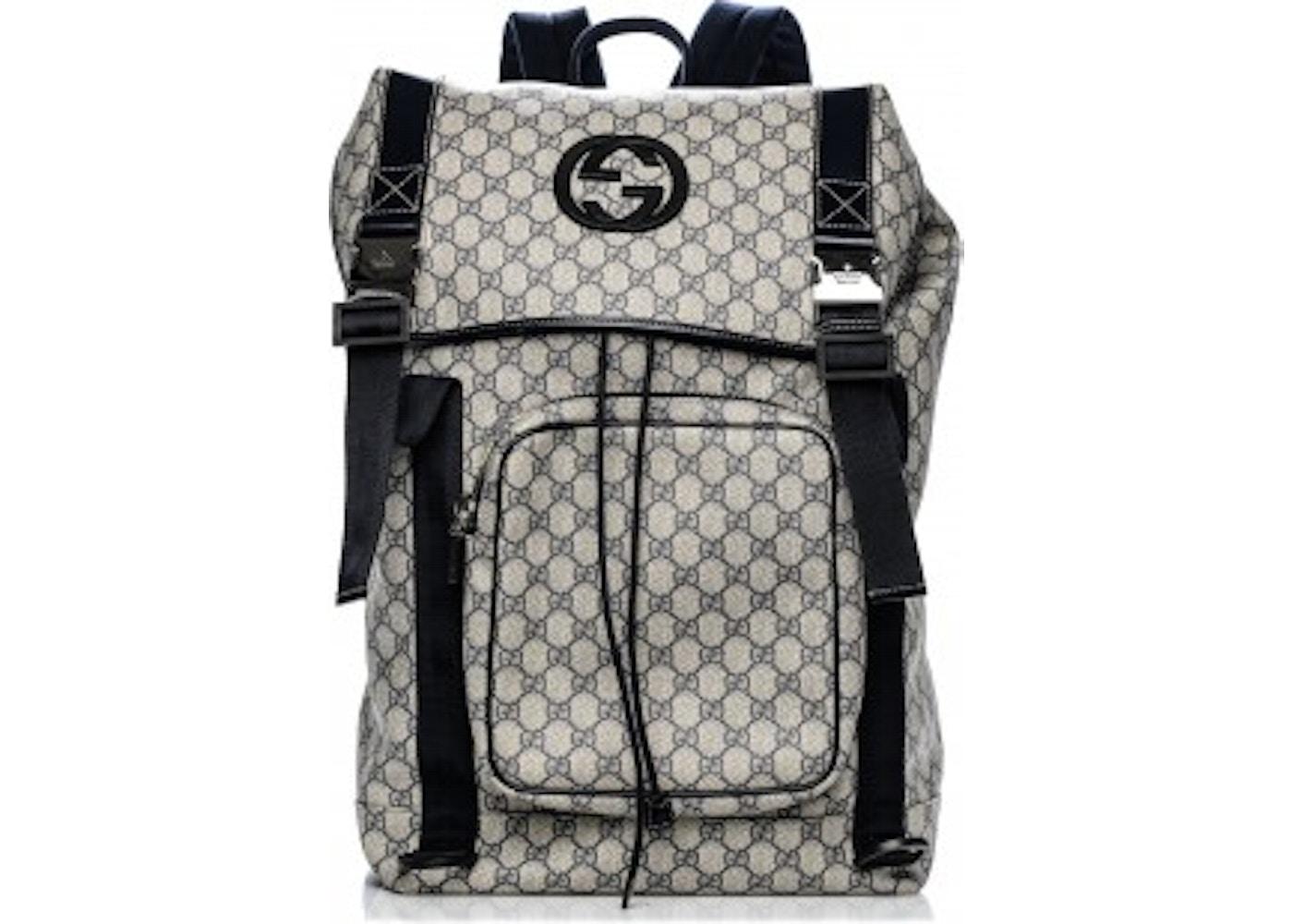 9d1d377203a Gucci GG Supreme Backpack Monogram Interlocking G Navy