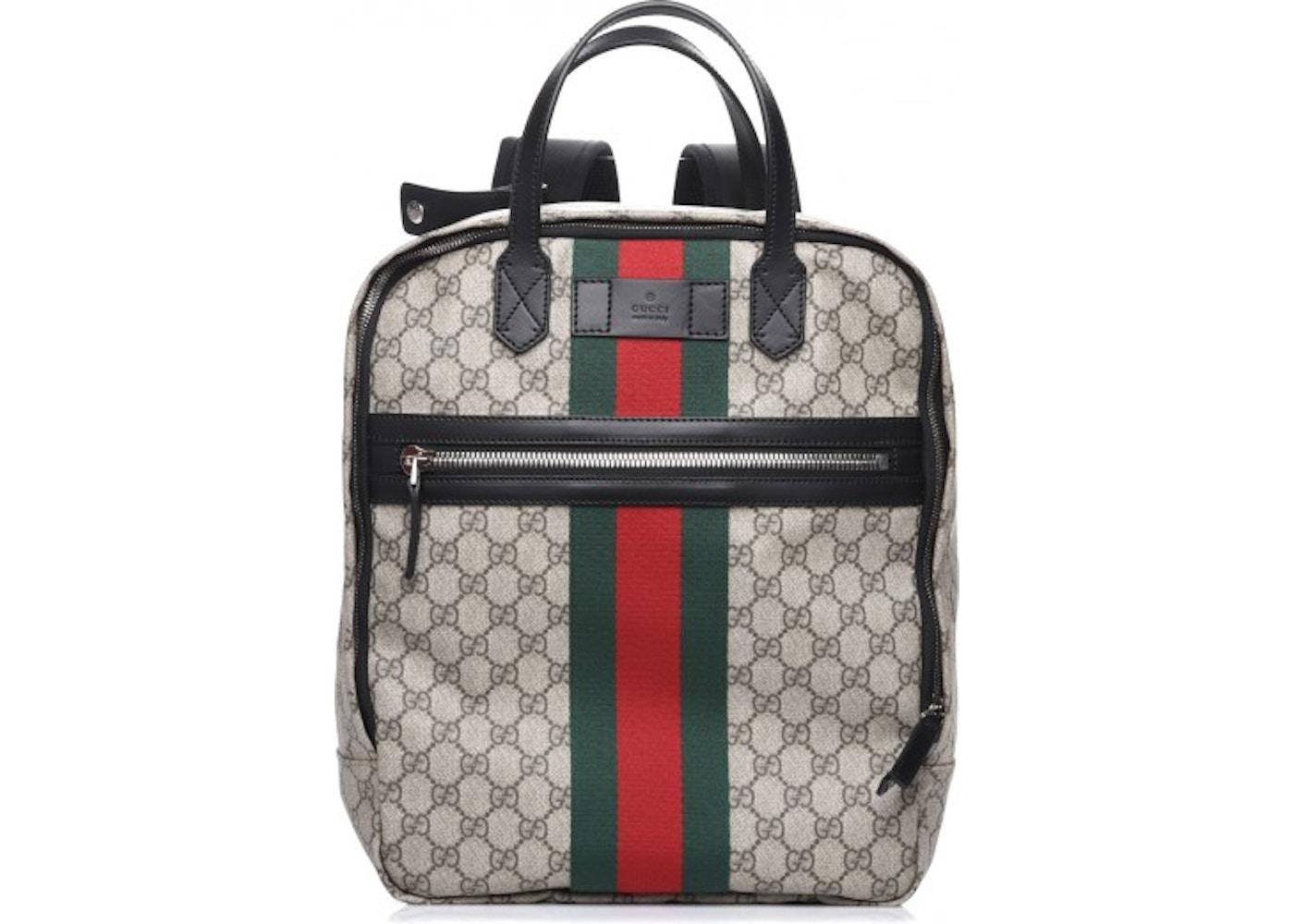 Gucci Backpack GG Supreme Web Black 496e3f06c2cd7