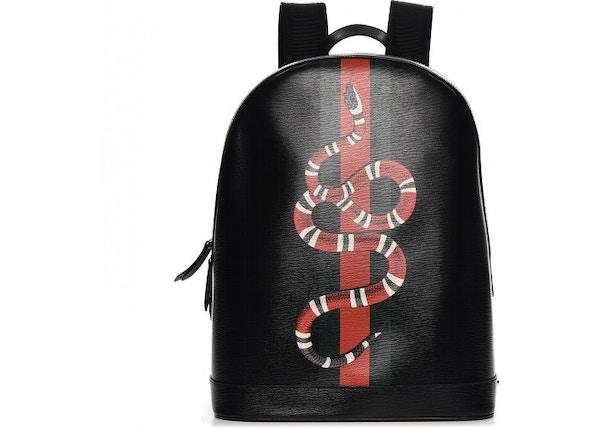 be69b4c7b46c Gucci King Snake Backpack Web Black/Red/White/Green