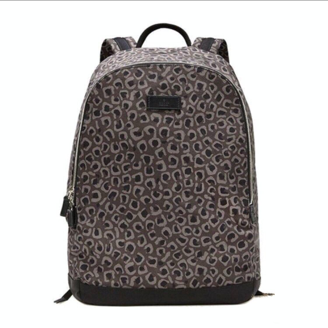 Gucci Backpack Leopard Brown/Black