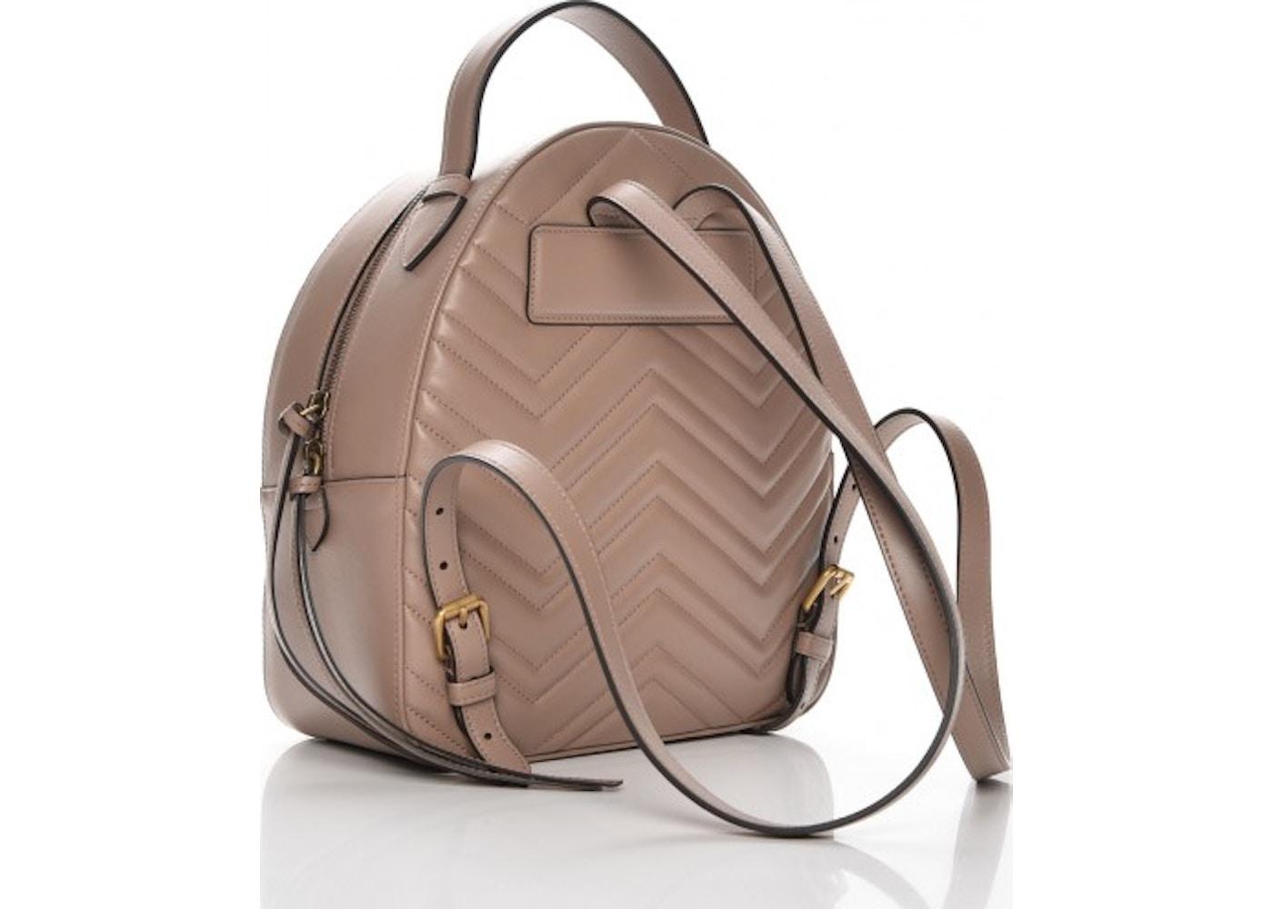 d948dda5185 Gucci Marmont Backpack Matelasse GG Interlocking Porcelain Rose