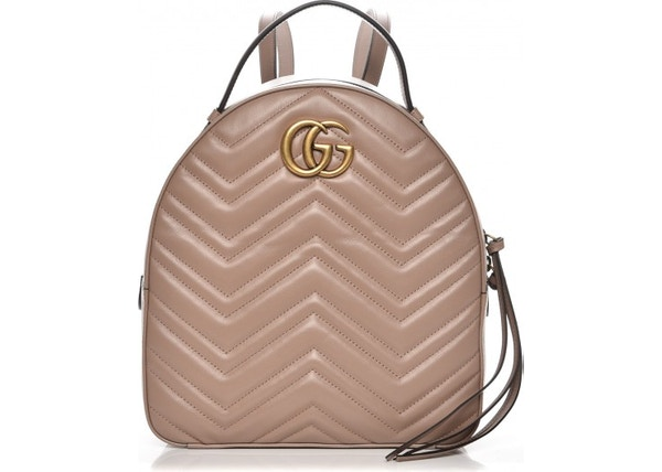 8b61c77d25f1b8 Gucci Marmont Backpack Matelasse GG Interlocking Porcelain Rose