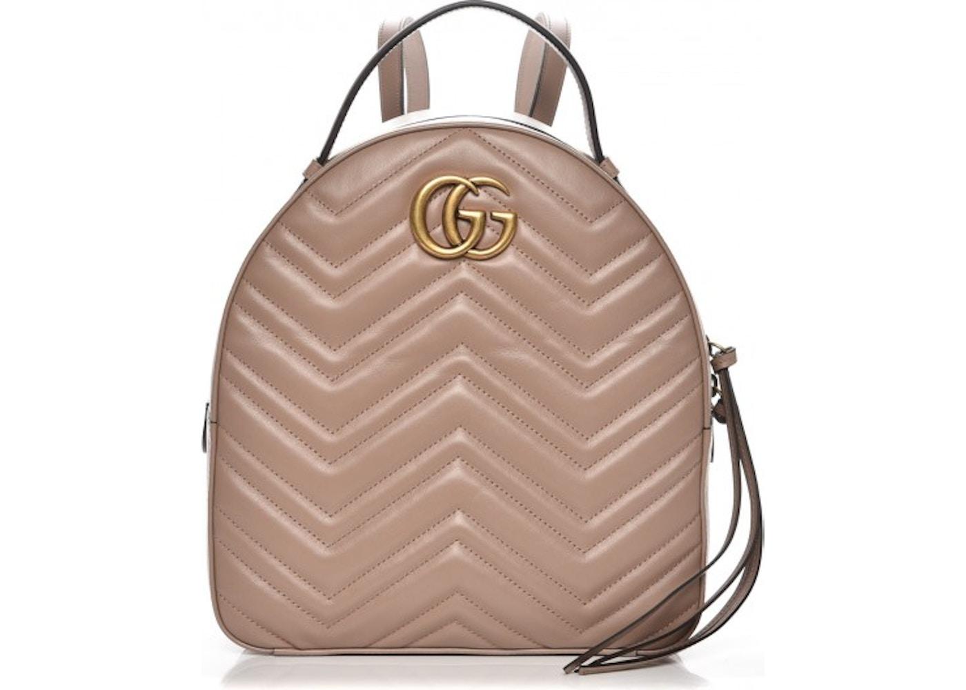 701c6f6bf Gucci Marmont Backpack Matelasse GG Interlocking Porcelain Rose