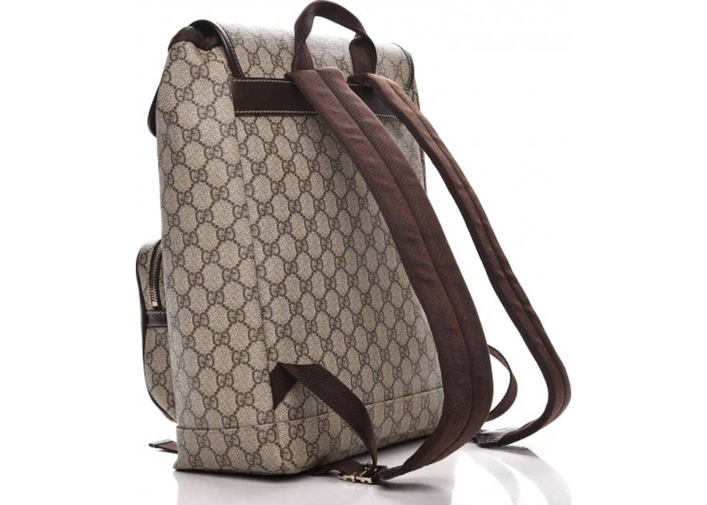 3d00ad74e16 Gucci Backpack Monogram GG Supreme Medium Brown
