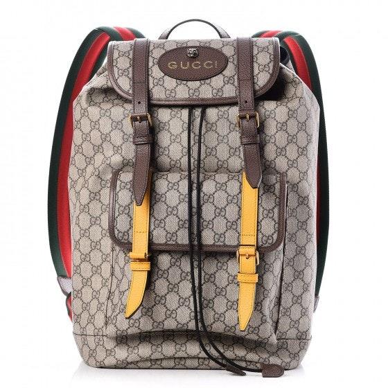 Gucci Backpack Monogram GG Supreme Dark Brown