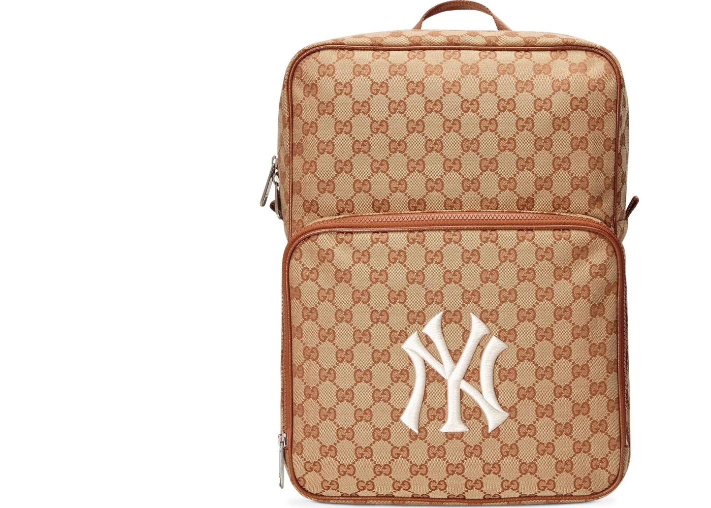 a4f53782f48 Gucci Backpack NY Yankees Medium Brick Red Beige