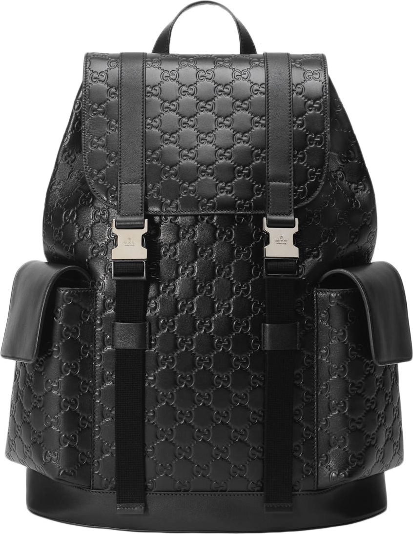 Gucci Signature Backpack Monogram GG Debossed Black