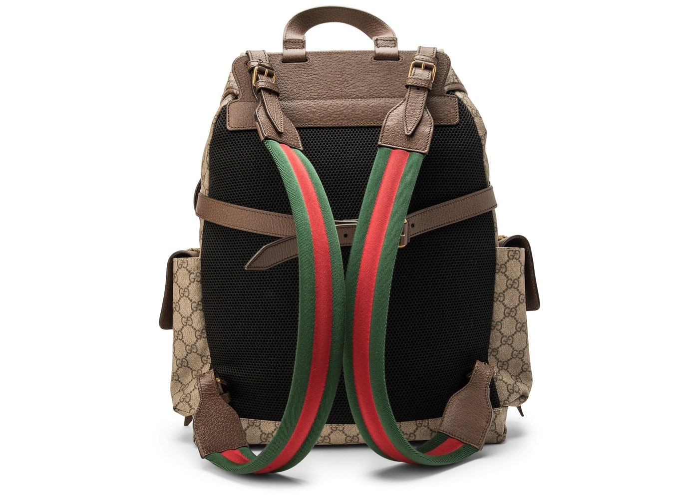 59e41e4ca3bfe Gucci Soft Backpack GG Supreme GG Appliques  Donald Duck at the Front  Tan Brown
