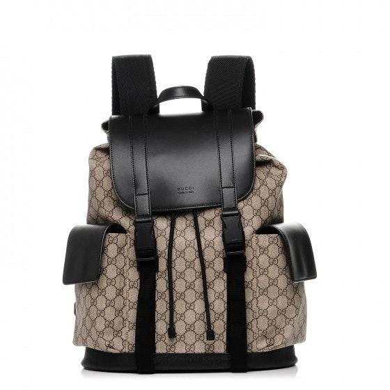Gucci Soft Backpack Monogram GG Black/Brown