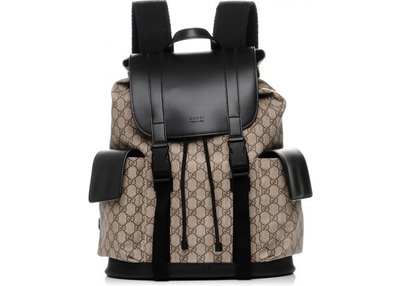 98f1884fe539 Gucci Soft Backpack Monogram GG Black Brown