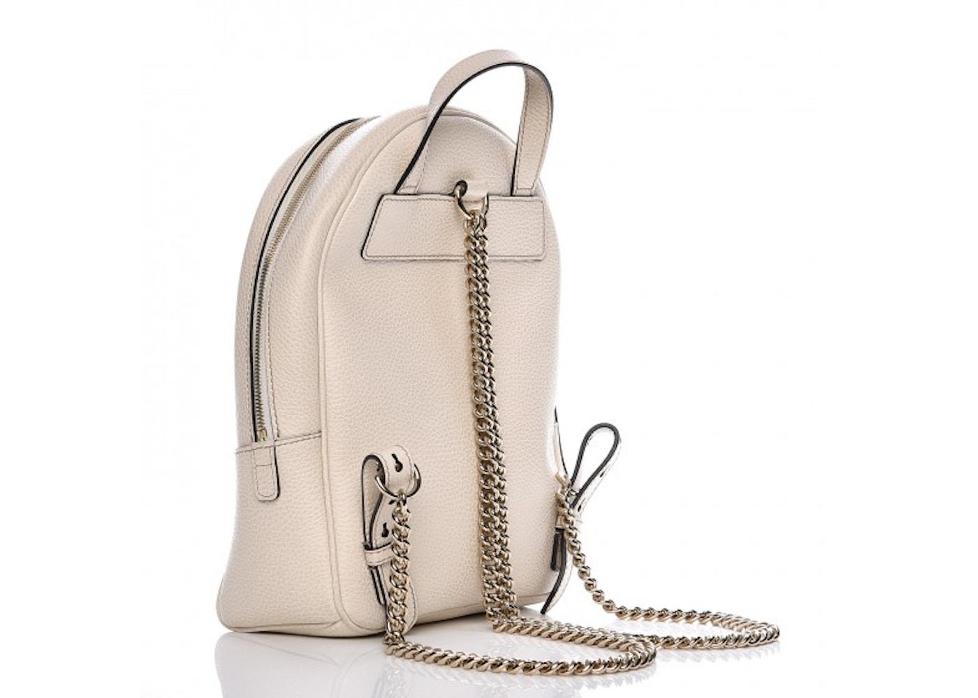 3eeda72f Gucci Soho Chain Backpack Off White