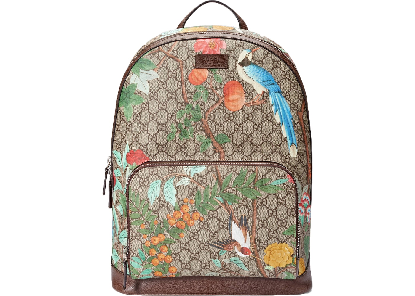 ab4ceac9dce711 Gucci Tian GG Supreme Backpack Monogram GG Floral Pattern Beige ...