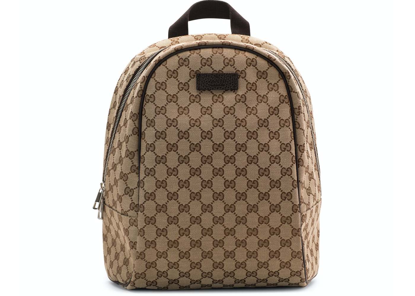 809fcd23a463 Gucci Top Zip Backpack Monogram GG Beige Brown. Monogram GG Beige Brown