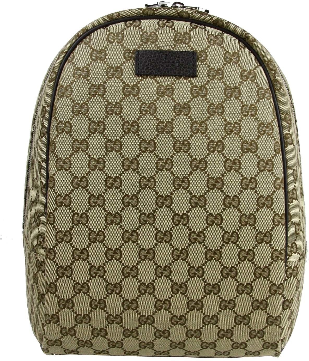 Gucci Top Zip Backpack Monogram GG Beige/Brown