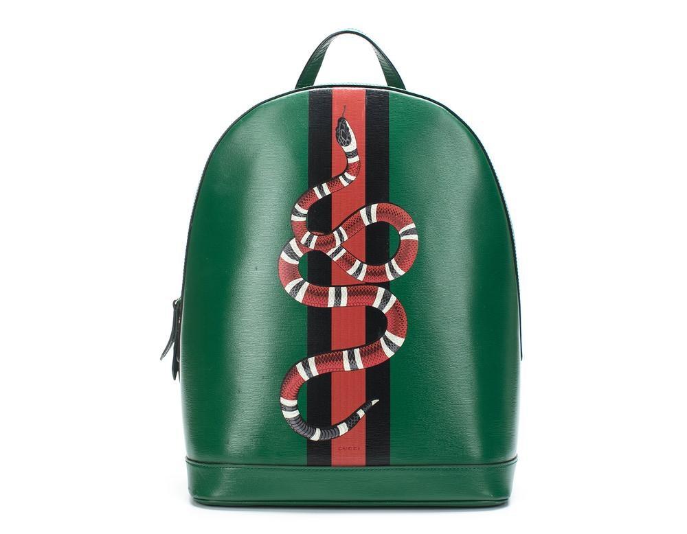 Gucci Backpack Web Kingsnake Print Green