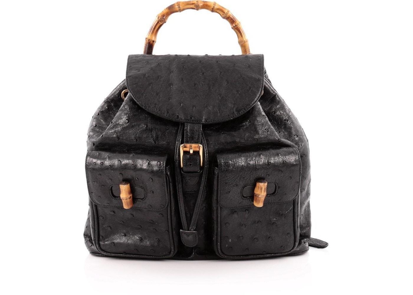 Gucci Bamboo Backpack Medium Black. Medium Black 16a28d86f0300