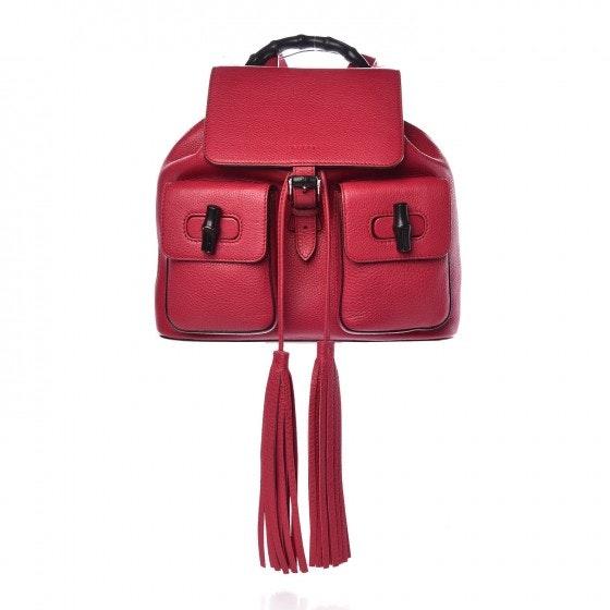 Gucci Bamboo Backpack Medium Petunia
