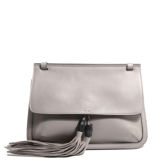 Gucci Bamboo Daily Shoulder Flap Grey