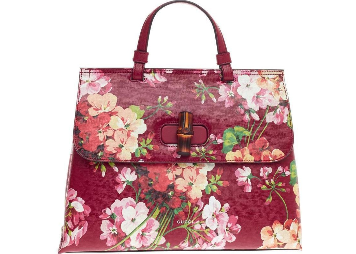 Gucci bamboo daily top handle blooms print bamboo turnlock medium gucci bamboo daily top handle blooms print bamboo turnlock medium redpink green mightylinksfo